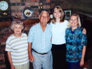 left to right, Frances, Elmore, me and Sondra Rouse, circa 1998.